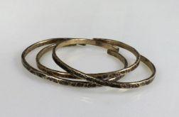 Komplet 3 mosiężnych bransoletek 190811-02