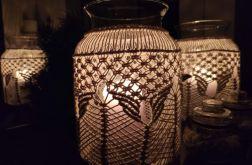 ozdobny świecznik z makramą /duży/