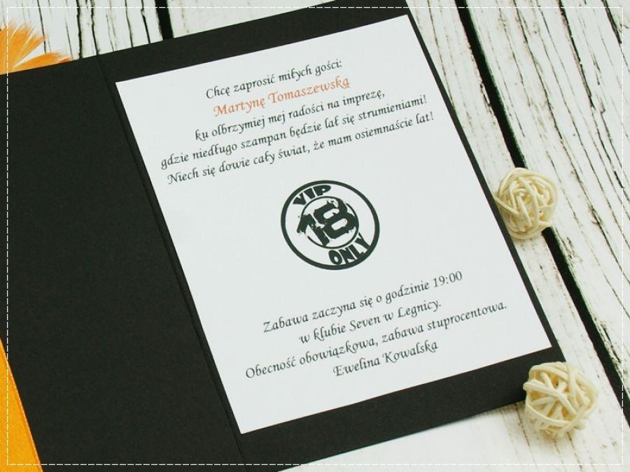 Zaproszenia Na 18 Ste Urodziny Kolekcja Vip 4 Shiraja