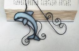 Zakładka do książki Delfin , witraż