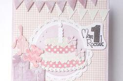 Kartka na roczek z tortem nr 4