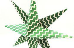 Bombka origami gwiazda z papieru zygzaki
