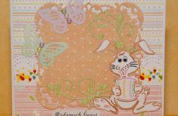 Kartka wielkanocna z króliczkiem 1