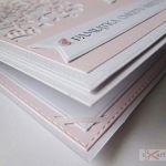 Kartka PAMIĄTKA CHRZTU różowo-biała #1 /Z