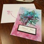 Kartka ślubna z kwiatami i życzeniami - Kartka ślubna z kolorowymi kwiatami