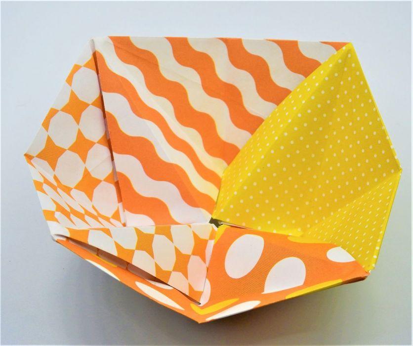 Geometryczna miseczka origami we wzory - 3