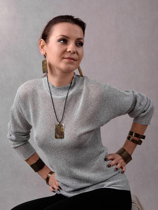 Mosiężna bransoleta - siateczka 170512-01 - Mosiężne bransoletki