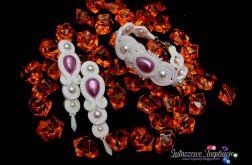 Liliowa biżuteria ślubna sutasz