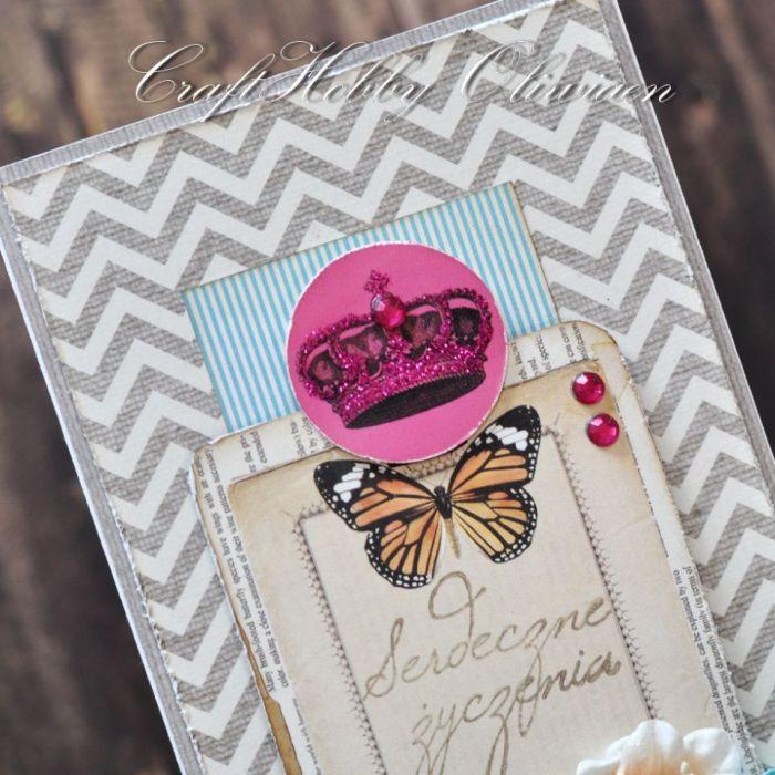 Serdeczne życzenia z motylem
