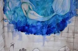 Akwarela W WANNIE artystki A. Laube