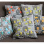 Poduszka ozdobna, patchwork, limonka