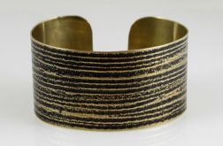 Mosiężna bransoleta - prążki 151224-05