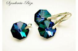Komplet Preciosa Crystals Octagon Heliotrope