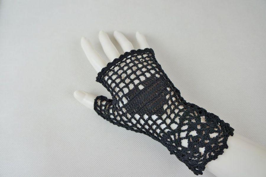 Romantyczne rękawiczki czarne