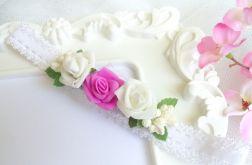 Nomma Opaska niemowlęca CHRZEST kwiatki 016