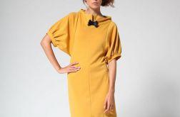Yellow classic dress 40