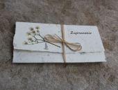 Zaproszenie komunijne z asparagusem
