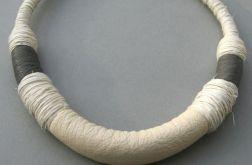 Naszyjnik z lnu i naturalnej skóry Duero