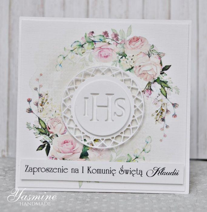 Piękne kwiatowe zaproszenia komunijne
