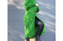 trawiasty sweter/płaszcz
