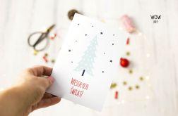 Kartka świąteczna oryginalna choinka