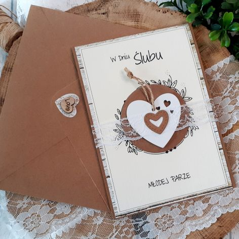 Rustykalna kartka na ślub