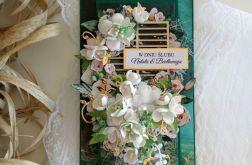 Kartka ślubna butelkowa zieleń #2