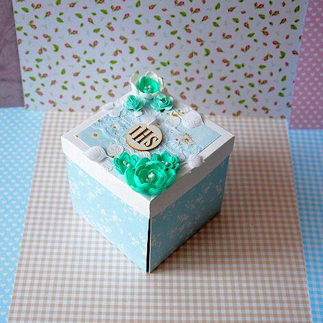 Exploding box Komunia chłopiec