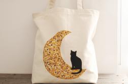 Ręcznie malowana torba z kotem