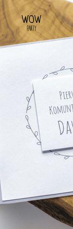 Oryginalne zaproszenie na I Komunię minimal