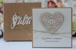 Stylowa kartka ślubna 7 14x14