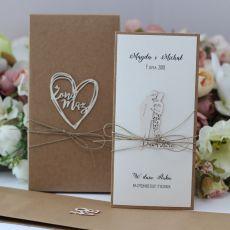 Oryginalna kartka ślubna z personalizacją 1a