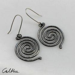 Spirala - srebrne kolczyki 190710-07