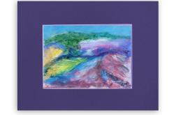 Pejzaż górski-akwarela, obraz malowany