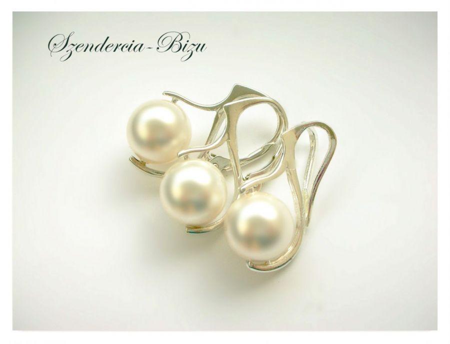 Komplet Swarovski Pearl Crystal White