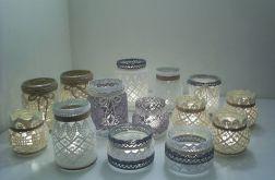 Koronkowe lampiony, świeczniki