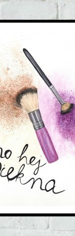 Obrazek/plakat Pędzle Do Makijażu + RAMKA
