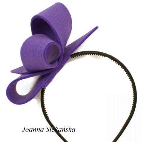 Fascynator fioletowy 13cm