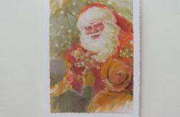 Kartka świąteczna mikołajkowa