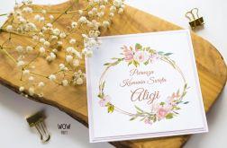 Oryginalne zaproszenie na Komunię kwiatowe