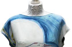 Bluzka jedwabna - chiński żuraw
