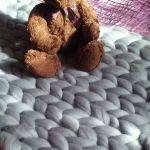 Kocyk chunky z merynosa - kocyk