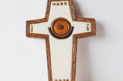 Krzyż ceramiczny biały