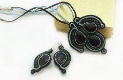Komplet biżuterii z onyksem
