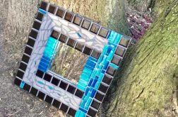 Mozaika lustro błękit