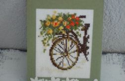 Na rowerze - kartka