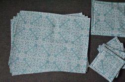4 podkładki pod talerze miętowe mozaiki