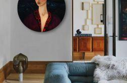 Frida Kahlo - obraz w okrągłej ramię