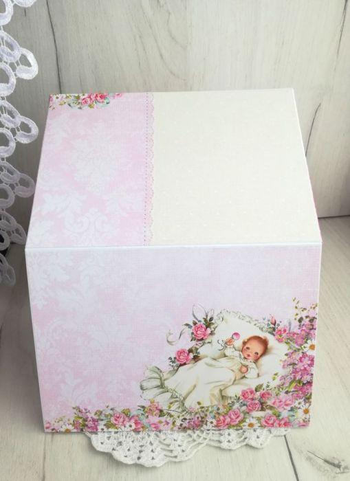 Księga gości roczek chrzest mocny róż pozioma
