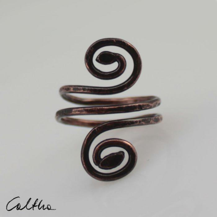 Zawijas - miedziany pierścionek 190522-03